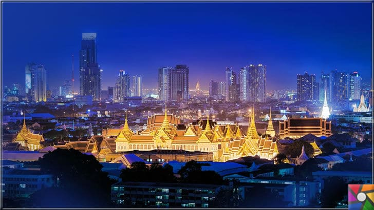 Dünya genelinde en çok turist çeken ilk 6 şehir hangileridir? | Bankok Sarayı gece manzarası fotoğrafı