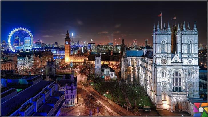 Dünya genelinde en çok turist çeken ilk 6 şehir hangileridir? | Rüya şehir Londra Big Ben & Westminster Sarayı gece manzara fotoğrafı