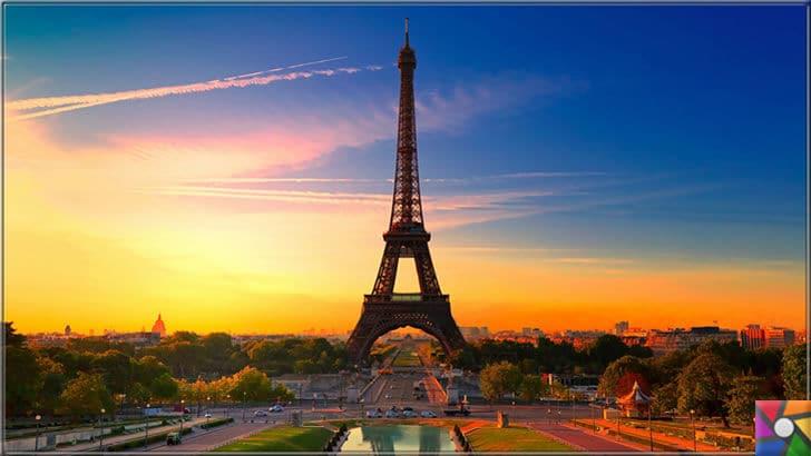Dünya genelinde en çok turist çeken ilk 6 şehir hangileridir? | Rüya şehir Paris'deki Eiffel Kulesi gün batımı manzara fotoğrafı