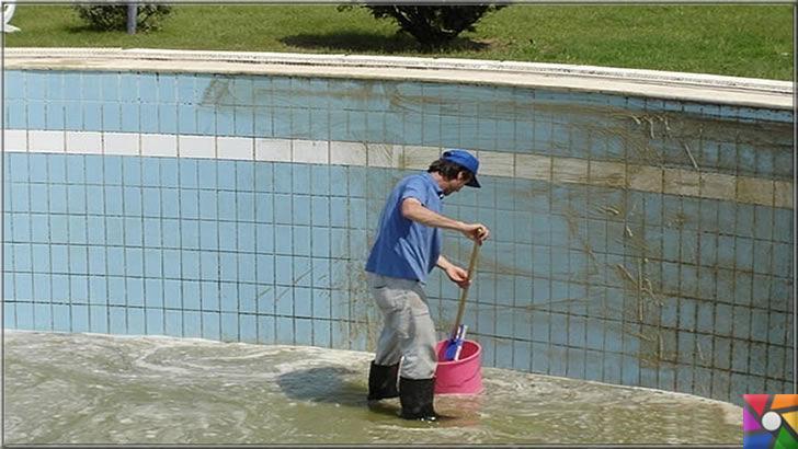 Havuz temizliği nasıl yapılır? Havuz bakımı nasıl yapılır?| Havuz bakımı yapılırken su tamamen boşaltılıp tüm zemin temizlenir