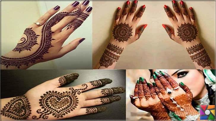 Hint kınası ile ele dövme yaptırmak artık ayrı bir moda