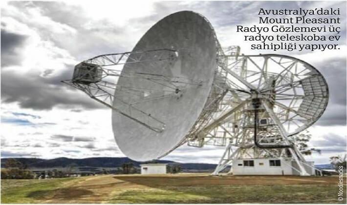 Avustralya'daki Mount Pleasant Radyo Gözlemevi üç radyo teleskoba ev । sahipliği yapıyor